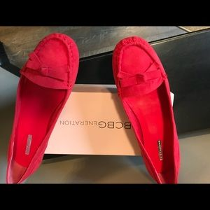Hot pink BCBG loafers size 11 never worn- NWT